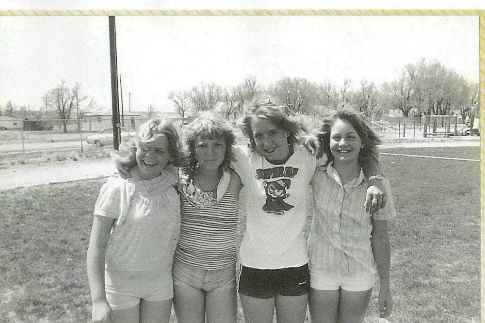 four girls with Donna 84'